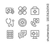 healthcare line icons. health... | Shutterstock .eps vector #1815626543