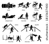 dog agility competition icons... | Shutterstock .eps vector #1815637400