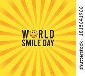 vector graphic of world smile... | Shutterstock .eps vector #1815641966