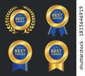set of four golden vector... | Shutterstock .eps vector #1815646919