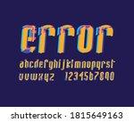 designer glitch designer font... | Shutterstock .eps vector #1815649163
