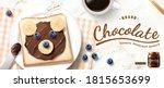 creative chocolate spread ad in ...   Shutterstock .eps vector #1815653699