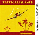 tropical islands. a vector... | Shutterstock .eps vector #181565510