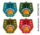Vector basketball badge / Vector basketball labels / Basketball emblems