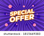 special offer  sale banner... | Shutterstock .eps vector #1815669383