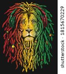 Pen And Inked Rastafarian Lion...