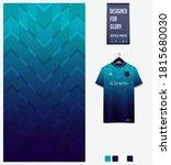 fabric pattern design. blue... | Shutterstock .eps vector #1815680030