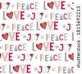 seamless christmas background... | Shutterstock .eps vector #1815692213