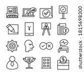 business line icons vector set | Shutterstock .eps vector #1815698300