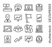 business management line icons... | Shutterstock .eps vector #1815698303