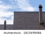 Tall Chimney On Roof With Slate ...