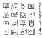 business and finance line icons ... | Shutterstock .eps vector #1815698723