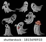 ghost characters. halloween... | Shutterstock .eps vector #1815698933