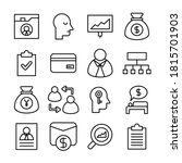 business and finance line icons ... | Shutterstock .eps vector #1815701903