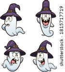 halloween cartoon ghost with... | Shutterstock .eps vector #1815717719