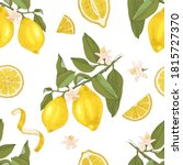 seamless pattern with blooming... | Shutterstock .eps vector #1815727370