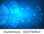 cyber security and threat...   Shutterstock .eps vector #1815764813