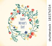 happy mother's day greeting... | Shutterstock .eps vector #181576514