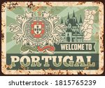 portugal rusty metal plate ... | Shutterstock .eps vector #1815765239