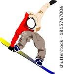 snowboard man silhouette. color ...   Shutterstock . vector #1815767006
