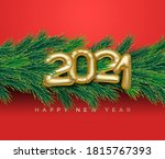 merry christmas and happy new... | Shutterstock .eps vector #1815767393