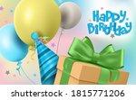 happy birthday gifts vector... | Shutterstock .eps vector #1815771206