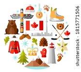 canada vector travel symbols... | Shutterstock .eps vector #1815771506