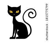 black cat. halloween cat...   Shutterstock .eps vector #1815775799