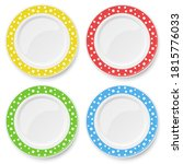 set of color vector plates with ...   Shutterstock .eps vector #1815776033