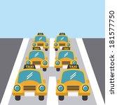 taxi design vector illustration | Shutterstock .eps vector #181577750