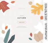 scandinavian style cut out... | Shutterstock .eps vector #1815787403