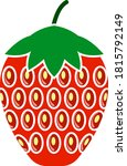 icon of strawberry in ui colors....