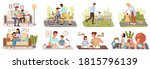 family life style concept...   Shutterstock .eps vector #1815796139