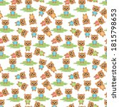 pattern design with cute baby... | Shutterstock .eps vector #1815798653