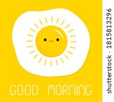 good morning. fried scrambled... | Shutterstock .eps vector #1815813296