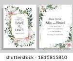 floral design for wedding... | Shutterstock .eps vector #1815815810
