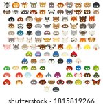 collection of different animal... | Shutterstock .eps vector #1815819266