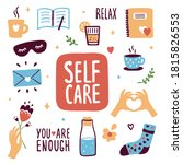 collection of self care icons....   Shutterstock .eps vector #1815826553