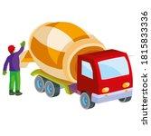 construction worker helping a... | Shutterstock .eps vector #1815833336