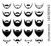 beard with moustache or... | Shutterstock .eps vector #181583963