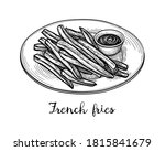 plate of french fries with... | Shutterstock .eps vector #1815841679