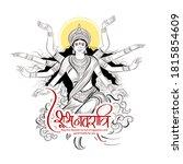 illustration of goddess durga...   Shutterstock .eps vector #1815854609