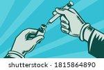 Retro Wpa Illustration Of Hand...