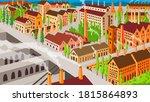 retro wpa illustration of a... | Shutterstock . vector #1815864893