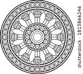 dharma wheel in buddhism...   Shutterstock .eps vector #1815866246