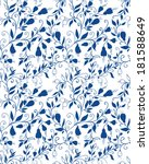 seamless floral pattern with...   Shutterstock .eps vector #181588649