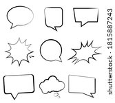 speech bubbles and balloons.... | Shutterstock .eps vector #1815887243