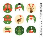 set of christmas emblems. merru ...   Shutterstock .eps vector #1815905573