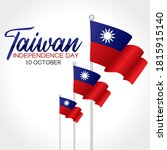 taiwan independence day vector...   Shutterstock .eps vector #1815915140