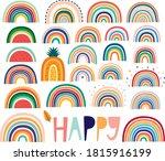 stylish trendy rainbows vector... | Shutterstock .eps vector #1815916199